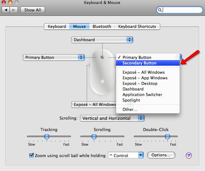 activar boton derecho en mac