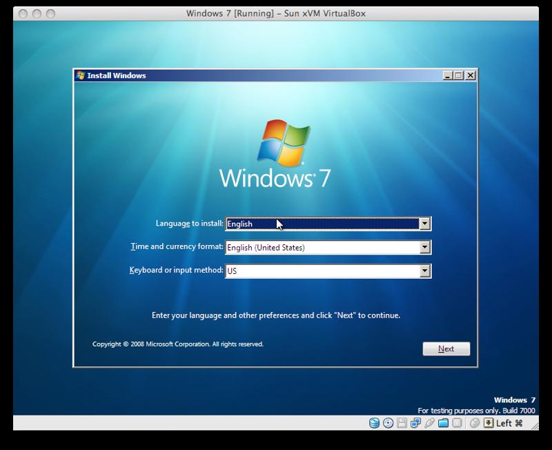 how to download windows 7 on mac virtualbox