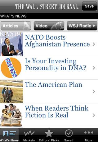 Wall Street Journal para iPhone