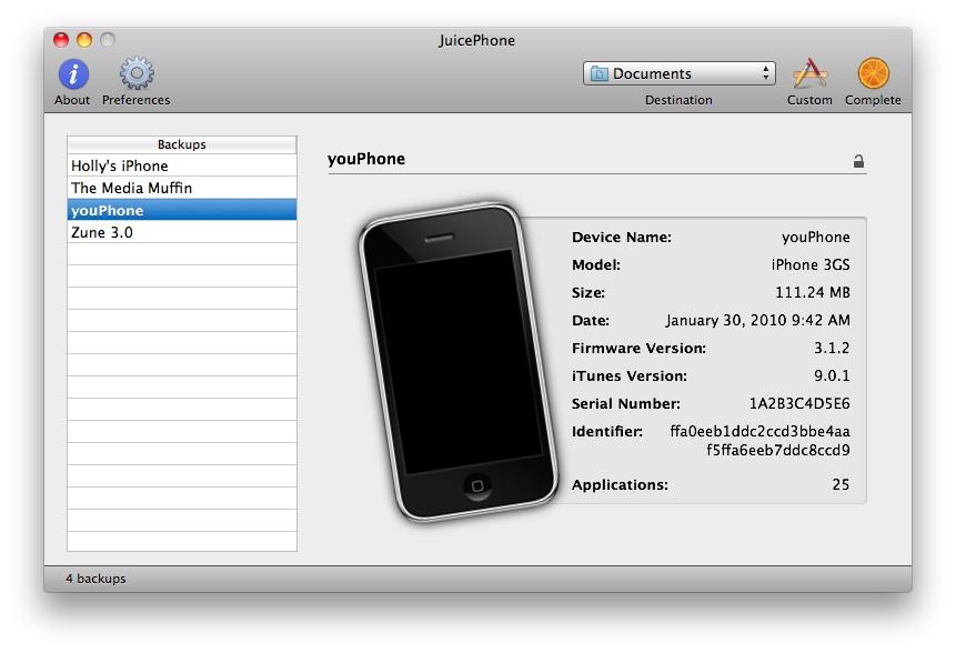 Aplicación De Iphone Para Mac iphone-backups