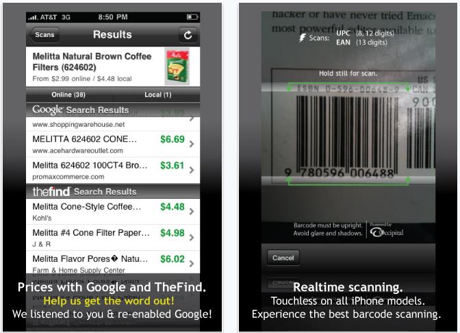 Descargar RedLaser gratis para el iPhone