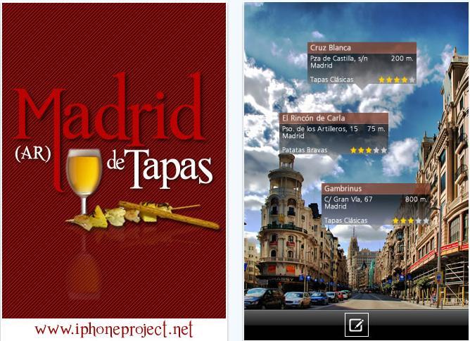 Realidad aumentada Madrid Tapas