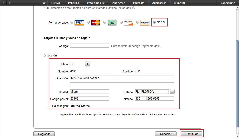 varias cuentas de iTunes de varios países y sin tarjeta de crédito