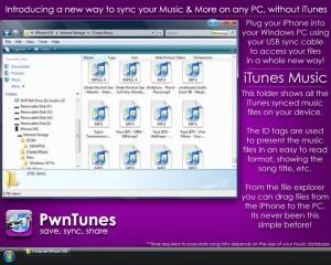 Pasando música al iPod oiPhone con PwnTunes.