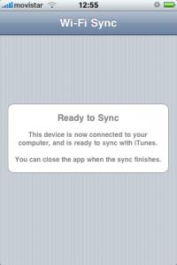 Wireless iPhone Sync
