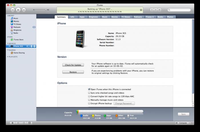 Wi-Fi Sync y iTunes