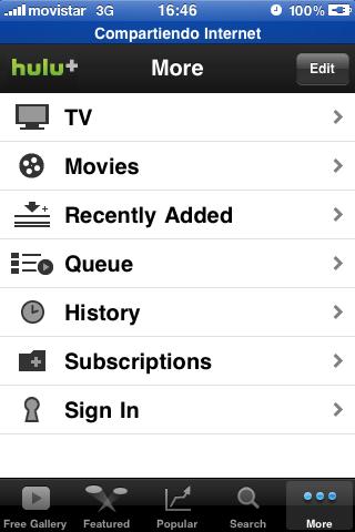 Hulu + Settings