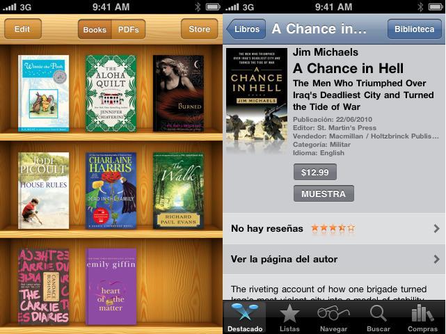 iBooks en el iPhone con iOS 4