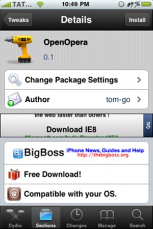 OpenOpera para el iPhone