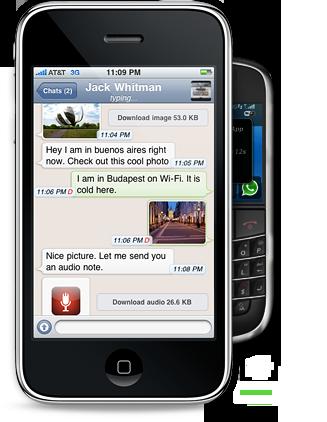 Mensajería gratis entre iPhone y BlackBerry