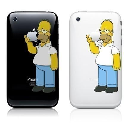 Pegatina de Homero Simpson