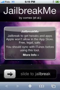 Jailbreak screen