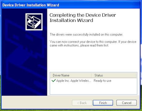 installing Magic Trackpad in Windows