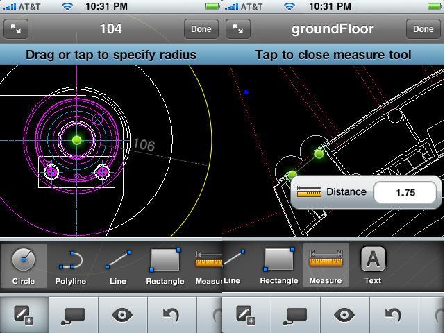 AutoCAD para el iPhone