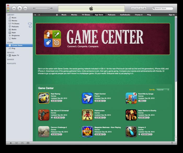 Game Center en iTunes