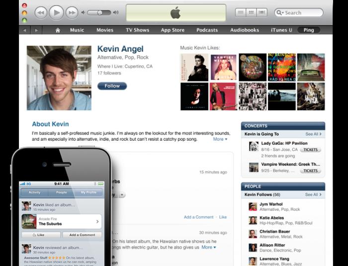 Ping en iTunes 10