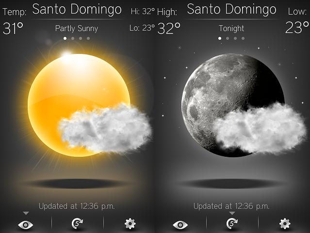 Hd 4cast una aplicaci n del clima con un aspecto for Aplicacion del clima