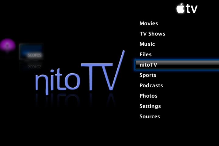 NitoTV app on Apple TV 2G