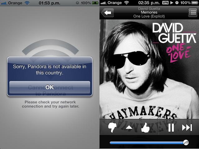 Como usar Pandora fuera de USA