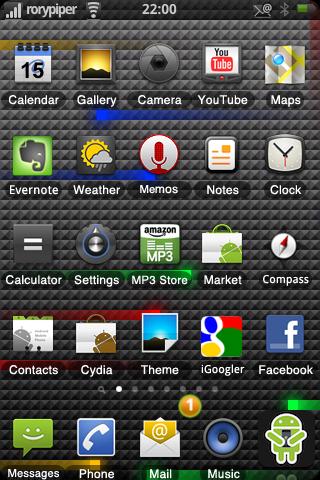 Tema del Nexus One para el iPhone