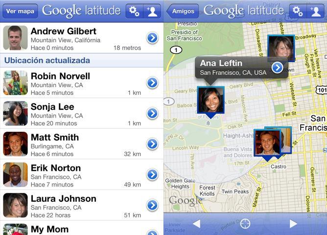 Google Latitude for iPhone