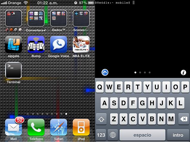 MobileTerminal 426 on iOS 4