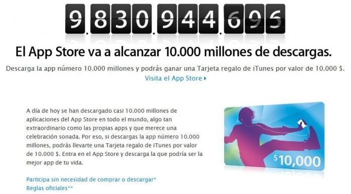 Descarga aplicación 10 billones de la App Store
