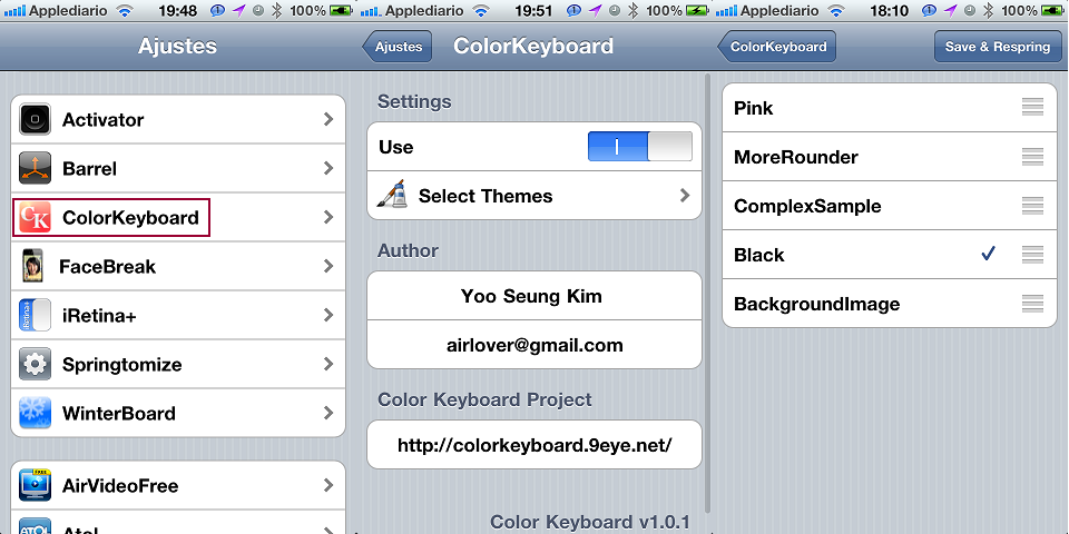 how to change keyboard colour settings