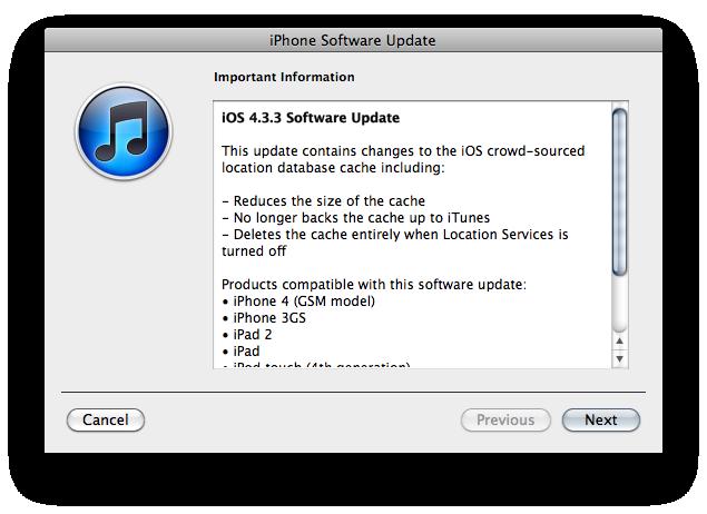 Descargar iOS 4.3.3