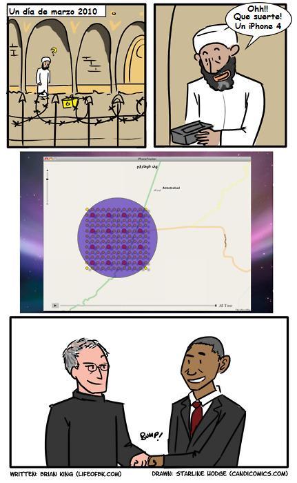 tira cómica sobre Bin Laden