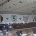 Los banners de la WWDC 2011 en el Moscone Center dejan ver el icono de iCloud