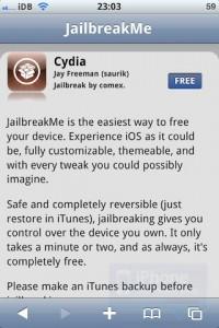 Hacer jailbreak al iPhone/iPad con jailbreakme 3.0