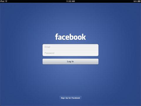 aplicación oficial de Facebook para el iPad