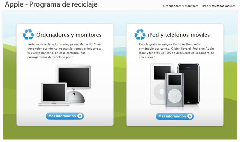 Programa de reciclaje de Apple
