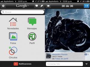 Google+ para iPhone