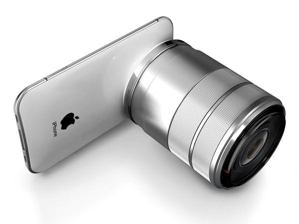 iPhone 5 Pro con lentes DSLR