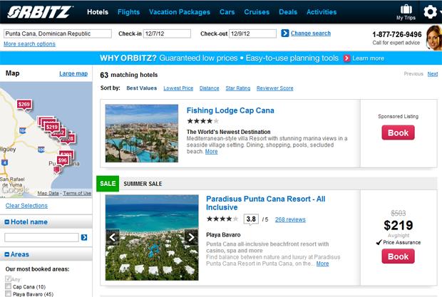 Reservar hoteles Orbitz