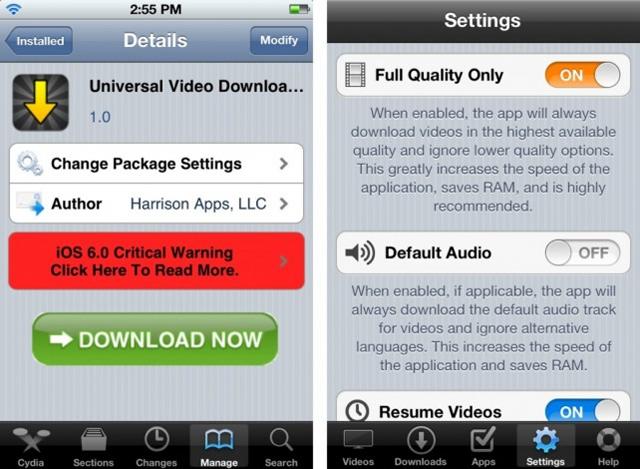 Universal Video Downloader: un tweak gratuito que te permite extraer los vídeos desde cualquier aplicación para iOS