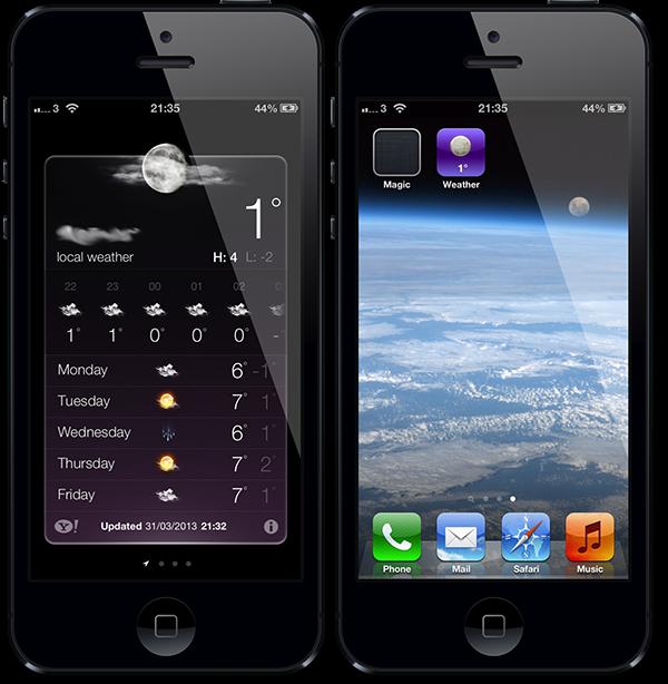 WeatherIcon se actualiza para iOS. Ahora podrás ver la temperatura en vivo en el icono de la apliación del Tiempo.