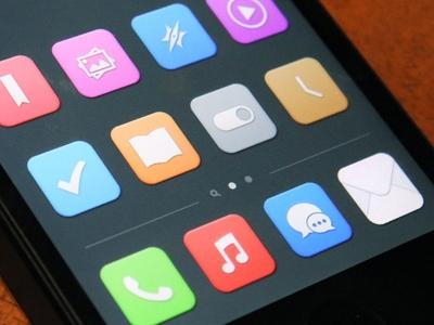 Nuevo diseño plano de iOS 7