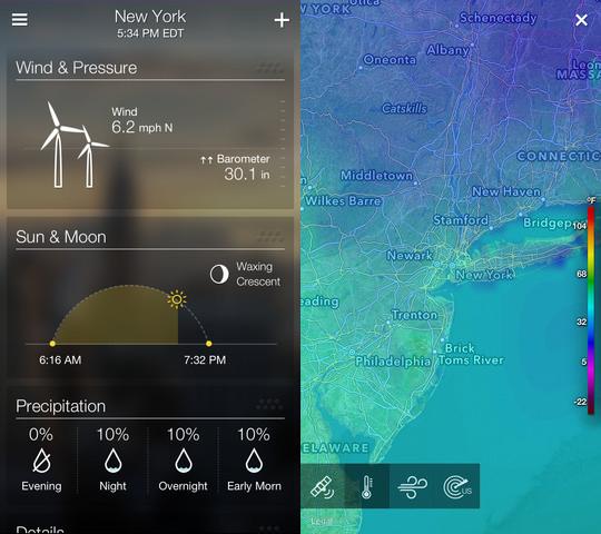 Yahoo tiempo para ios se actualiza posiblemente la mejor for Aplicacion del clima
