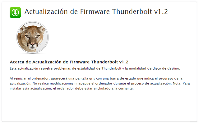 Thunderbolt Firmware