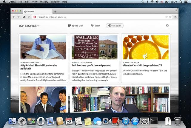 Opera Next 15 para Mac - Discover