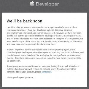 Portal Desarrrolladores Apple