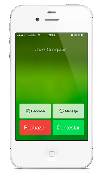 Teléfono iOS 7 beta 4