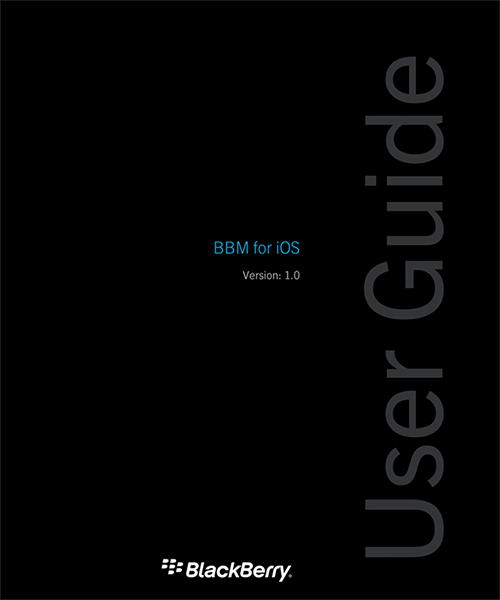 Manual de BBM para iOS