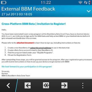BlackBerry Messenger Beta iOS