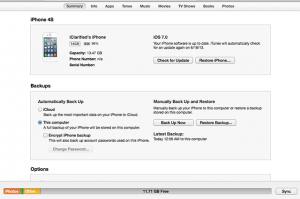 Downgrade iOS 7