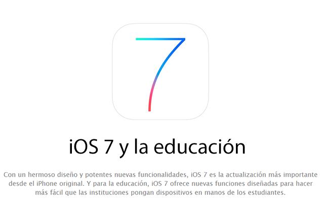 iOS 7 y la educación