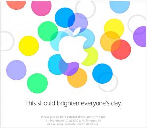 Invitaciones Apple evento 2013